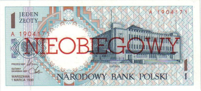 1 złoty 1990 – Gdynia