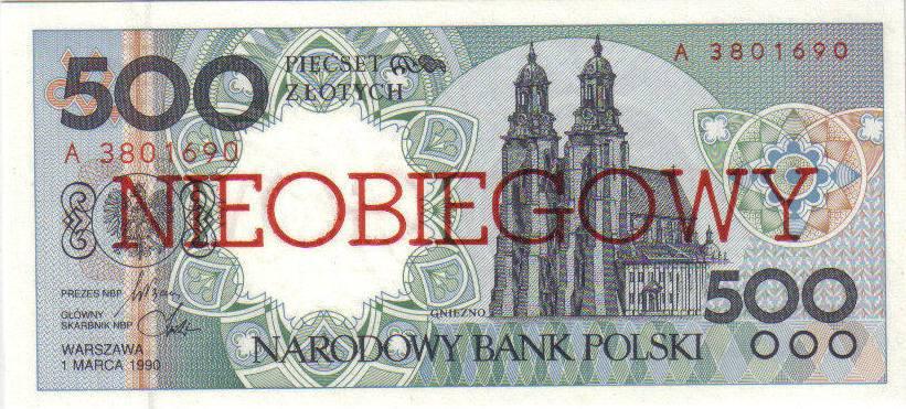 500 złotych 1990 – Gniezno